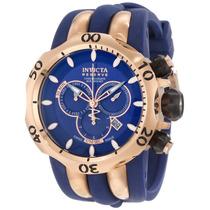 Relógio Invicta 10831 Venom Reserve Azul E Rose Frete Grátis