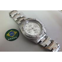 Relogio Elgin-cronometro-aço Inox - Brasil Relógios