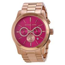 Relógio Michael Kors Mk5931 Rose E Pink Lindo Caixa E Manual
