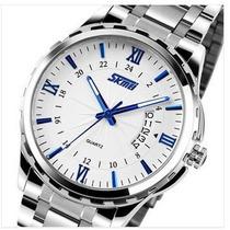 Relógio Masculino Barato Luxo Calendário Pronta Entrega