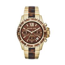 Relógio Origina Mk5873 Michael Kors Tartaruga Marrom Dourado