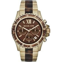 Relógio Michael Kors Mk5873 Dourado Tortoise Original