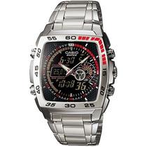 Relógio Casio Edifice Efa-122 D Termômetro 50 Cidades Alar P
