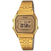 Relogio Casio La680wga 9 Cronometro Alarme Timer Wr Gold Nfe