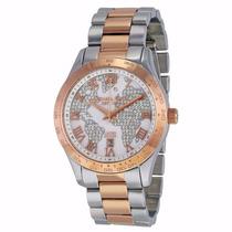 Relógio Feminino Michael Kors Mk6129 Prata/rose Lindo
