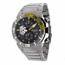 Relógio Orient Titânio Seatech Mbttc003 P1px 1 Ano Garantia