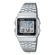 Relógio Casio A500wa 1df Prata Pt Crono 5alar A500 A168 A158