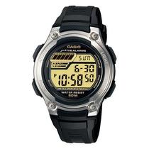Relogio Casio W 212h-9 Série Ouro-5alarm Timer Crono 100m