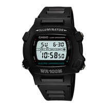 Relogio Casio W 740-1vs Digital Alarm Timer Crono Wr100m Luz