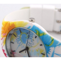 Relógio Feminino Menina Meiga Sol Flores Moda Estilo V6
