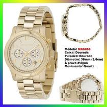 Relógio Michael Kors Mk5055 Dourado 38mm Midsized Original !