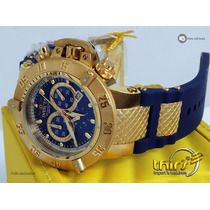 Invicta Subaqua 5515 Azul Promocão Ouro 18k Aqui É Original