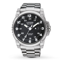 Citizen Bj8070-51e Eco-drive Super Titanium Shock Proof
