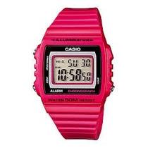 Relogio Casio W 215h Resina Vermelho Alar Bip 50m W215 Lw200