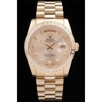 Relogio Rolex De Ouro 18k Com Diamantes (oyster Perpetual)