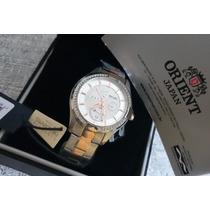 Lindo Relógio Orient Feminino Com Detalhes Dourados E Pedras