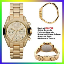 Relógio Michael Kors Mk5798 Dourado 35mm Midsized Original !