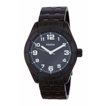 Relógio Fossil Bq1250 Preto Aço Inoxidável Original Garantia