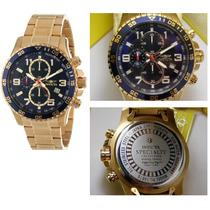 Invicta 14878 Banhado A Ouro 18k Especializada Chronograph
