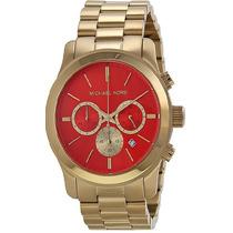 Relógio Michael Kors Mk5930 Laranja Gold Original Garantia