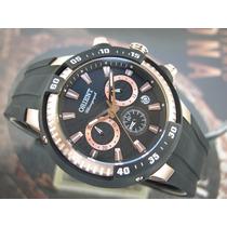 Relógio Orient Cronógrafo Sport Aço Plaque Ouro Mrspc003