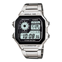 Relogio Casio Ae-1200 Whd 1a Horario Mundial 5 Alarmes 100m