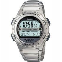 Relógio Casio W 756 Aço C/9 Temporizadores Alar W756 W96
