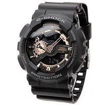 Relógio Casio G-shock Ga110rg 1a Preto E Bronze/dourado Novo