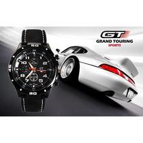 Relógio Esportivo Gt-grand Touring - Pulseira Flexível Macia