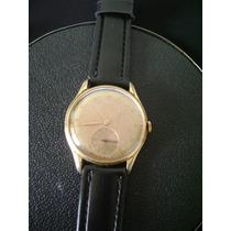 Antigo Relógio De Pulso Masculino Em Plaquê De Ouro Tjjot