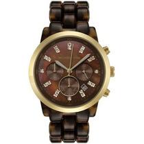 Relógio Michael Kors Mk5216 Tartaruga Com Garantia, Original