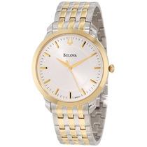 Relógio Bulova 9a121 Slim Masculino Misto Dourado