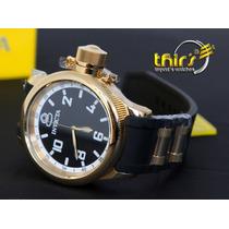 Invicta Russian Diver 1436 Ba Ouro 18k - Aqui É Original !!!