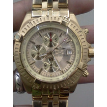 Relógio Braitiling Dourado Fundo Preto Ou Dourado