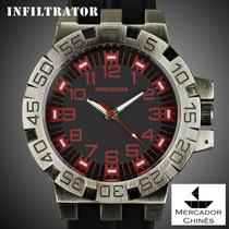Relógio Infantry Infiltrator If-008 Vermelho Royal Police