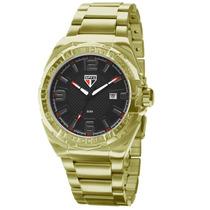 Relógio Technos Masculino Dourado Do São Paulo Sao2315ak/4p