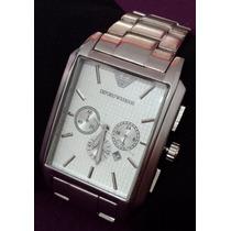 Relógio Importado Masculino Estilo Emporio A. Prata/ Branco