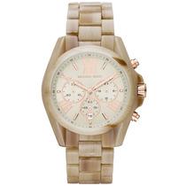 Relógio Michael Kors Mk5840 Madrepérola E Rose Com Caixa.