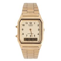 Relógio Casio Aq-230ga 9b Unissex Vintage Retro Gold Nfe