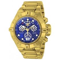 Invicta 14498 Subaqua Noma 4 Iv 18k Grande Gold Fundo Azul