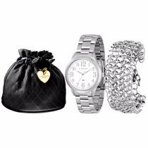 Relógio Feminino Lince Dourado (orient) Lrm4288l Prova Dágua