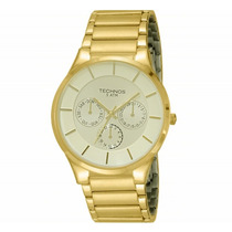Relógio Technos Masculino Classic Slim Dourado 6p29hr/4x