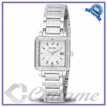 Bulova 96r143 Novo E Na Caixa 8 Diamantes