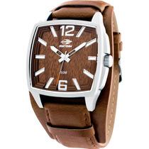 Relógio Mormaii Masculino Quadrado Aço Couro Mo2035ah/3m