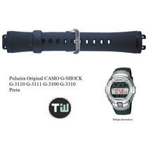 Pulseira Casio Original G-shock G-3110 G-3111 G-3310 Preta
