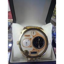 Relogio Diesel Radar Branco Dourado Original Sedex Gratis