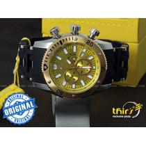 Invicta Sea Spider 10253 Banhado A Ouro18k Champagne Grand
