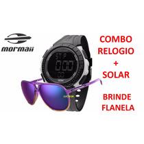 Kit Mormaii Relogio + Oculos De Sol Mo150c/43 + Flanela