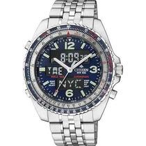 Relógio Citizen Wingman Jq8007-51l - Fundo Azul!