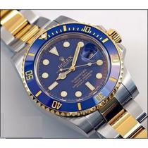 Relógio Submariner Blue A Pronta Entrega Misto Ouro C/ Prata